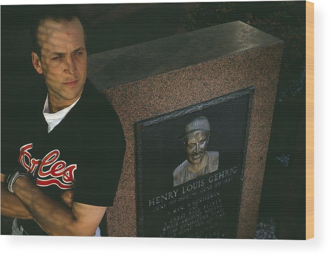 People Wood Print featuring the photograph Cal Ripken by Ronald C. Modra/sports Imagery
