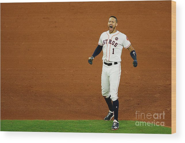 Game Two Wood Print featuring the photograph Carlos Correa by Bob Levey