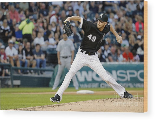 Second Inning Wood Print featuring the photograph Chris Sale by Jon Durr