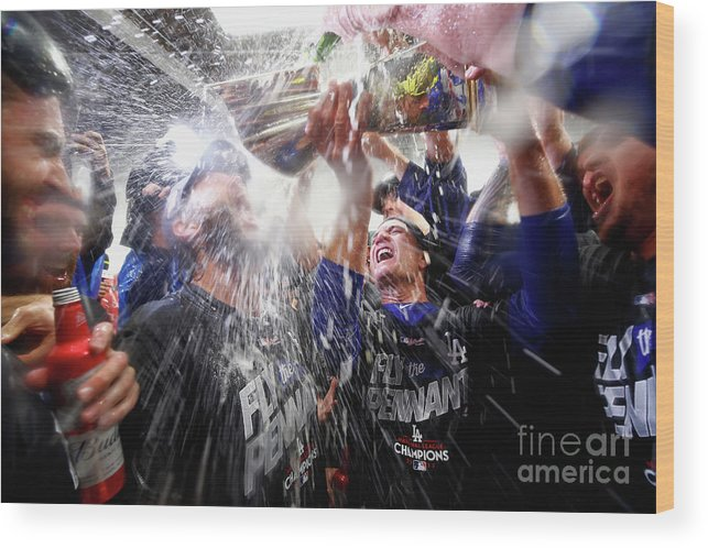 Championship Wood Print featuring the photograph Clayton Kershaw by Jamie Squire