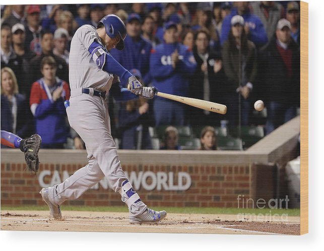 Championship Wood Print featuring the photograph Cody Bellinger by Jamie Squire