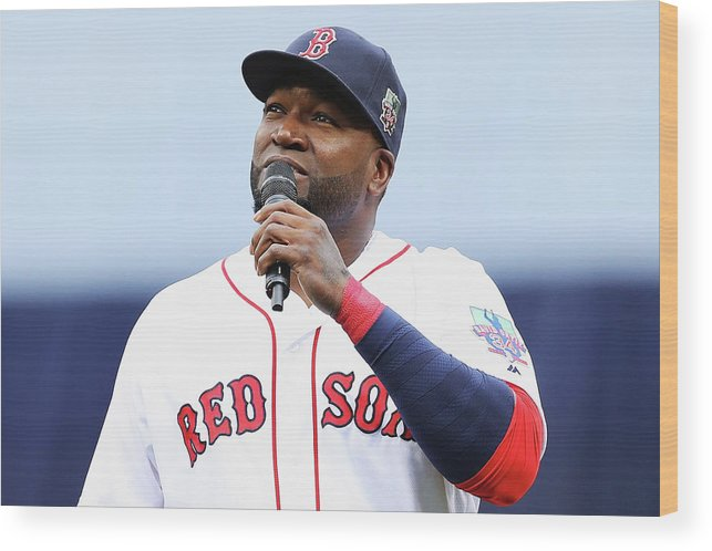 Crowd Wood Print featuring the photograph David Ortiz by Maddie Meyer