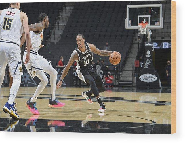Nba Pro Basketball Wood Print featuring the photograph Demar Derozan by Logan Riely