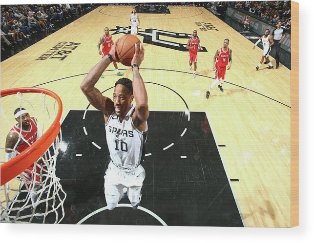 Nba Pro Basketball Wood Print featuring the photograph Demar Derozan by Nathaniel S. Butler