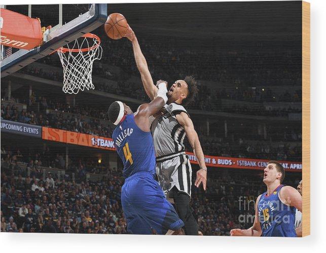 Playoffs Wood Print featuring the photograph Derrick White by Garrett Ellwood