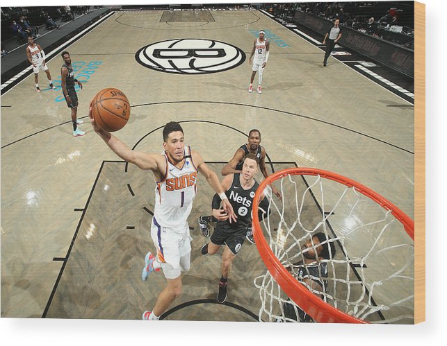 Nba Pro Basketball Wood Print featuring the photograph Devin Booker by Nathaniel S. Butler