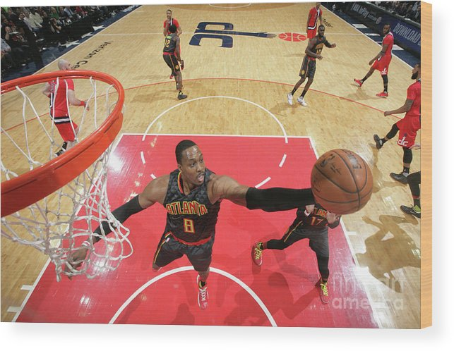Nba Pro Basketball Wood Print featuring the photograph Dwight Howard by Ned Dishman