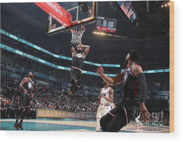 Nba Pro Basketball Wood Print featuring the photograph Dwyane Wade and Lebron James by Nathaniel S. Butler
