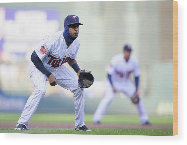 Game Two Wood Print featuring the photograph Eduardo Nunez by Hannah Foslien