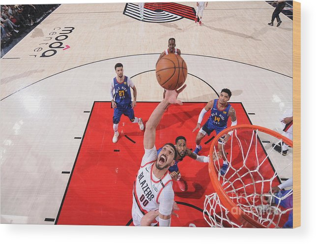 Nba Pro Basketball Wood Print featuring the photograph Enes Kanter by Sam Forencich