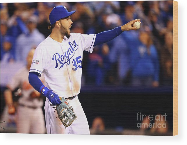 People Wood Print featuring the photograph Eric Hosmer by Dilip Vishwanat