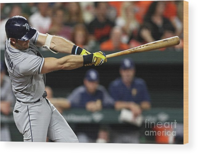 Three Quarter Length Wood Print featuring the photograph Evan Longoria by Patrick Smith