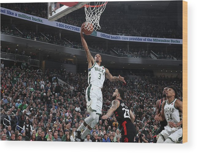 Game Two Wood Print featuring the photograph George Hill by Nathaniel S. Butler