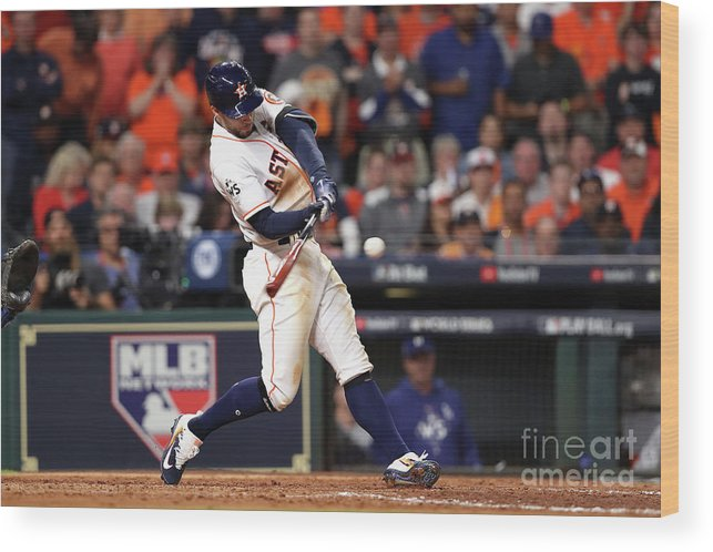 People Wood Print featuring the photograph George Springer by Christian Petersen