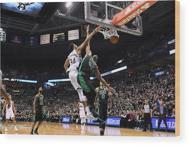 Playoffs Wood Print featuring the photograph Giannis Antetokounmpo by Brian Babineau