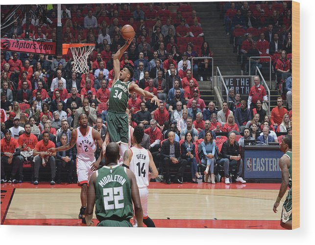 Playoffs Wood Print featuring the photograph Giannis Antetokounmpo by Jesse D. Garrabrant