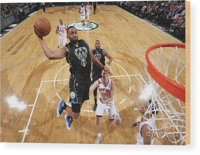 Nba Pro Basketball Wood Print featuring the photograph Jabari Parker by Gary Dineen