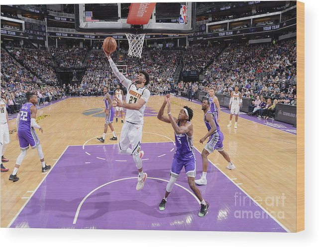 Nba Pro Basketball Wood Print featuring the photograph Jamal Murray by Rocky Widner