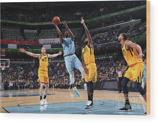 Nba Pro Basketball Wood Print featuring the photograph Jaren Jackson by Joe Murphy