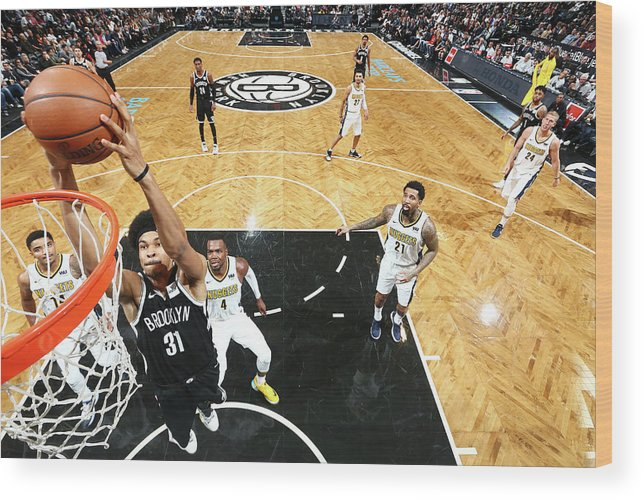 Nba Pro Basketball Wood Print featuring the photograph Jarrett Allen by Nathaniel S. Butler