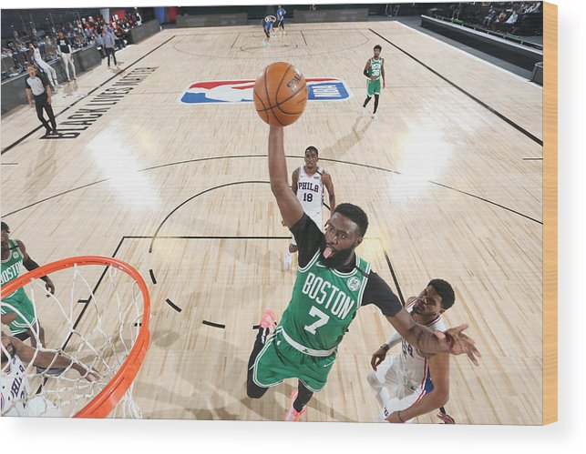 Playoffs Wood Print featuring the photograph Jaylen Brown by David Sherman
