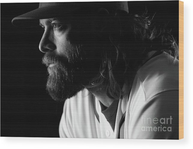 Media Day Wood Print featuring the photograph Jayson Werth by Chris Trotman