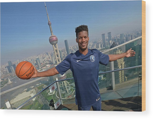 Event Wood Print featuring the photograph Jimmy Butler by David Dow