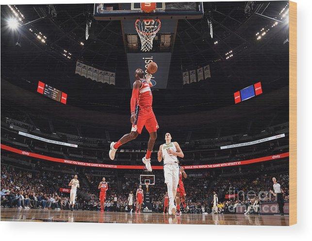 Nba Pro Basketball Wood Print featuring the photograph John Wall by Garrett Ellwood