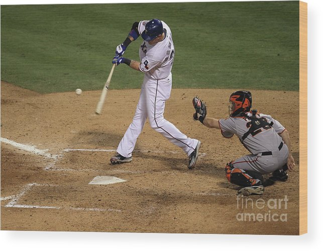 People Wood Print featuring the photograph Josh Hamilton by Stephen Dunn