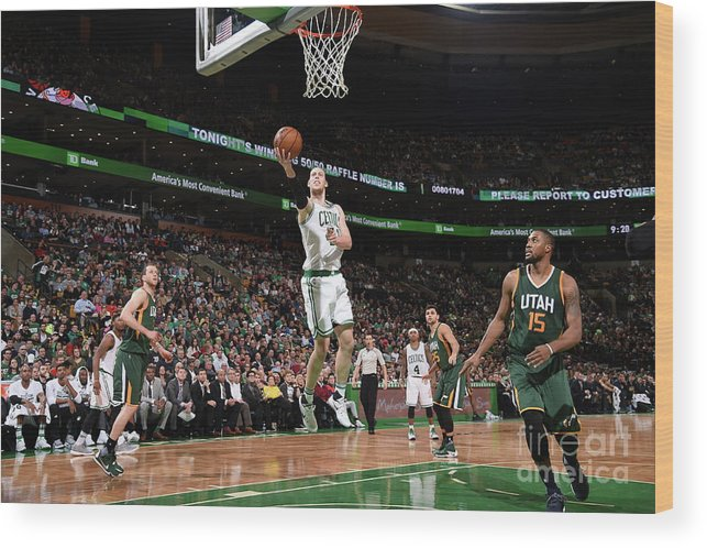 Nba Pro Basketball Wood Print featuring the photograph Kelly Olynyk by Brian Babineau