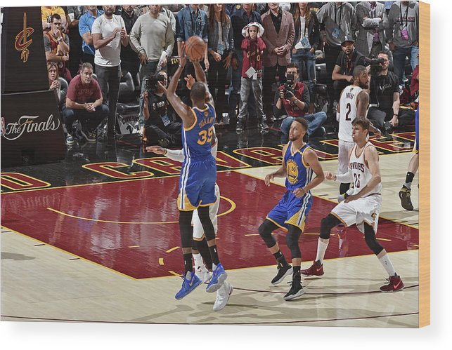 Playoffs Wood Print featuring the photograph Kevin Durant by David Liam Kyle