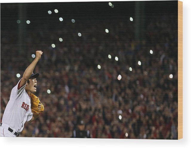 Playoffs Wood Print featuring the photograph Koji Uehara by Rob Carr