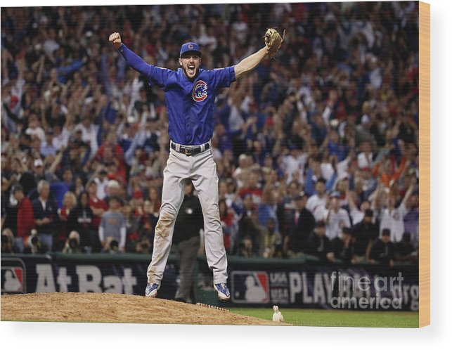 People Wood Print featuring the photograph Kris Bryant by Ezra Shaw