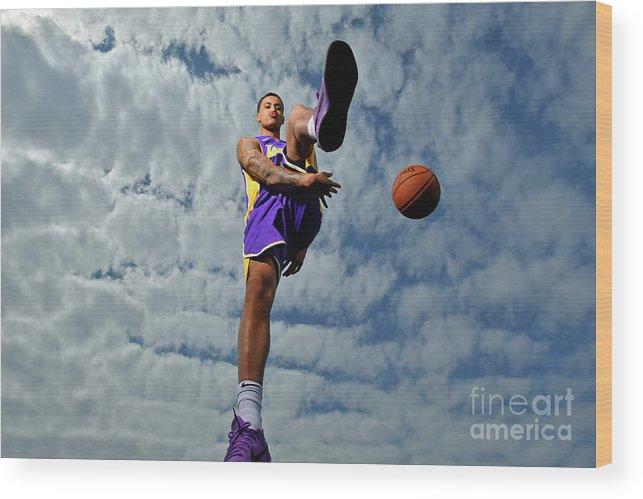 Nba Pro Basketball Wood Print featuring the photograph Kyle Kuzma by Jesse D. Garrabrant