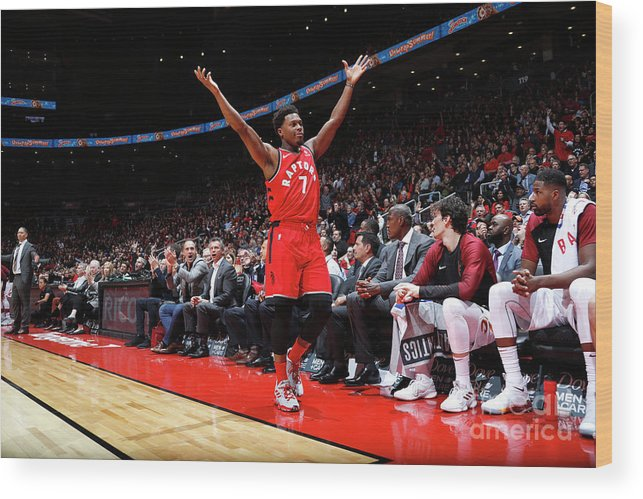 Nba Pro Basketball Wood Print featuring the photograph Kyle Lowry by Mark Blinch