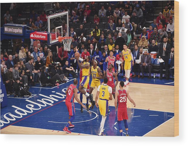 Nba Pro Basketball Wood Print featuring the photograph Lebron James by David Dow