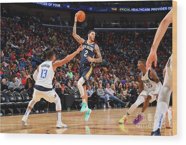 Smoothie King Center Wood Print featuring the photograph Lonzo Ball by Jesse D. Garrabrant
