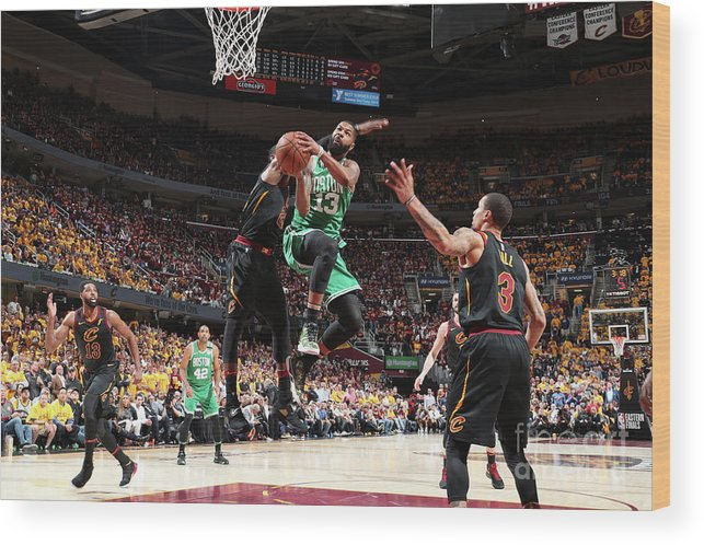 Playoffs Wood Print featuring the photograph Marcus Morris by Nathaniel S. Butler