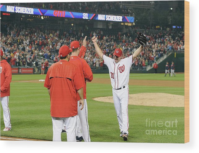 People Wood Print featuring the photograph Max Scherzer by Greg Fiume