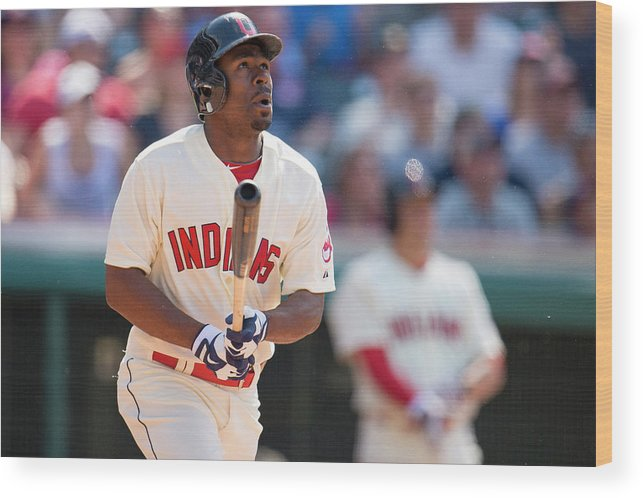 Michael Bourn Wood Print featuring the photograph Michael Bourn by Jason Miller