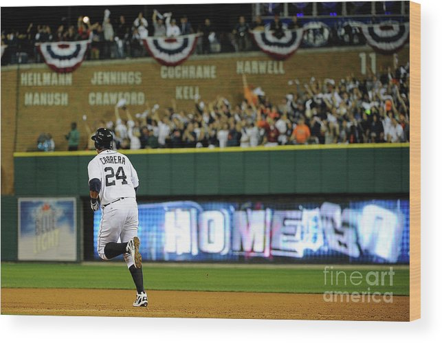 People Wood Print featuring the photograph Miguel Cabrera by Kevork Djansezian