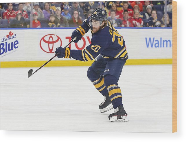 National Hockey League Wood Print featuring the photograph NHL: MAR 29 Red Wings at Sabres by Icon Sportswire