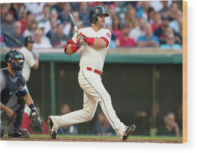 Second Inning Wood Print featuring the photograph Nick Swisher by Jason Miller