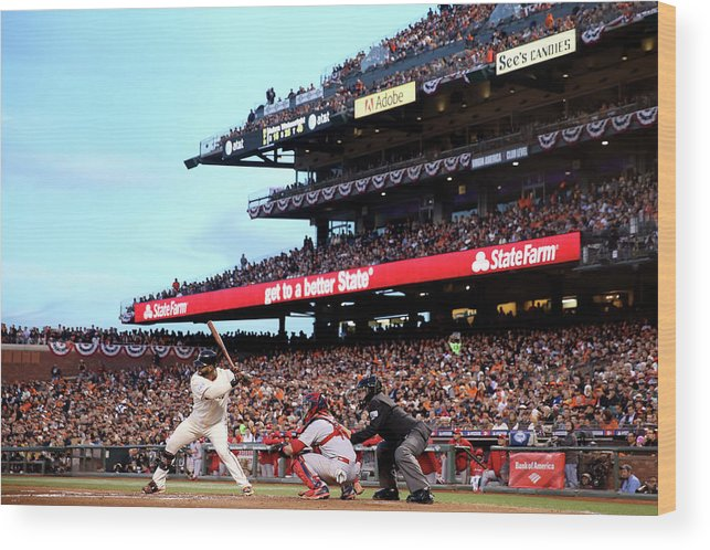Playoffs Wood Print featuring the photograph Pablo Sandoval by Christian Petersen