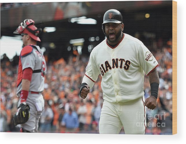 Playoffs Wood Print featuring the photograph Pablo Sandoval by Thearon W. Henderson