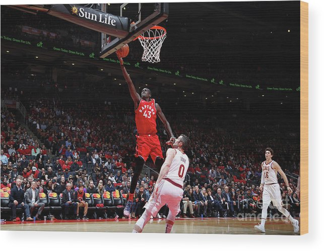 Nba Pro Basketball Wood Print featuring the photograph Pascal Siakam by Mark Blinch