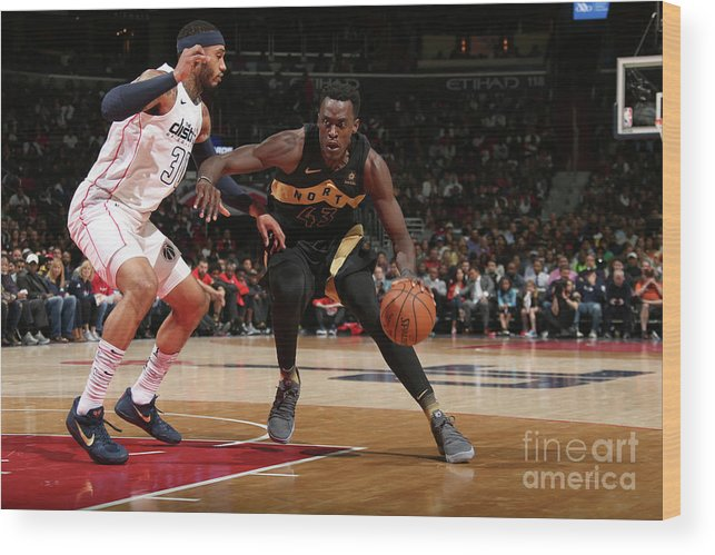 Playoffs Wood Print featuring the photograph Pascal Siakam by Ned Dishman