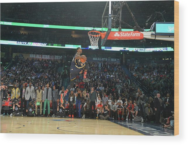 Smoothie King Center Wood Print featuring the photograph Paul George by Jesse D. Garrabrant