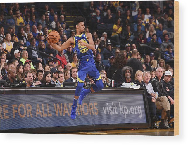 Nba Pro Basketball Wood Print featuring the photograph Quinn Cook by Noah Graham