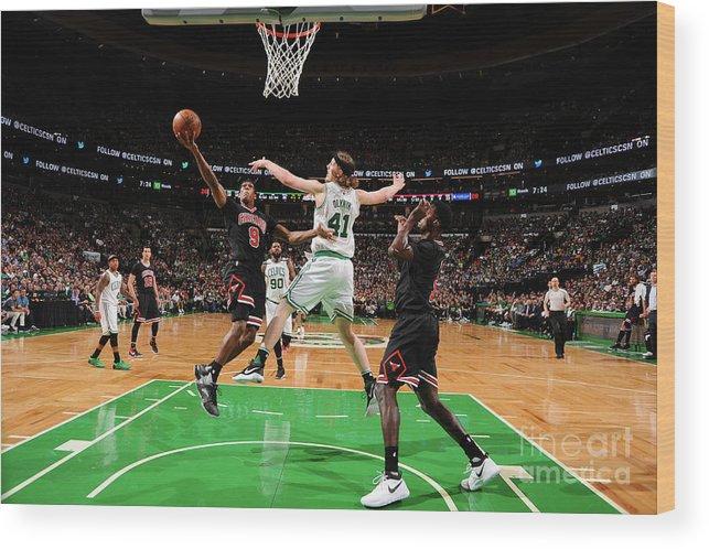 Playoffs Wood Print featuring the photograph Rajon Rondo by Brian Babineau